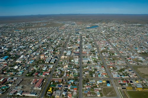 Rio Gallegos from above