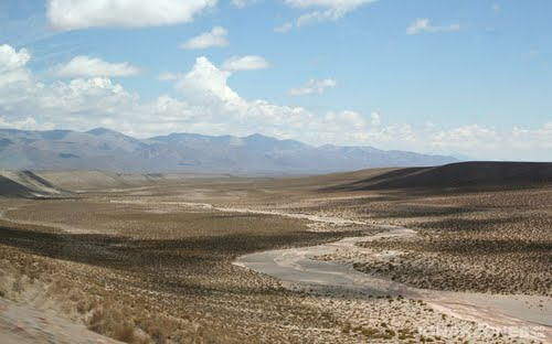 Dry river on the road to Tilcara
